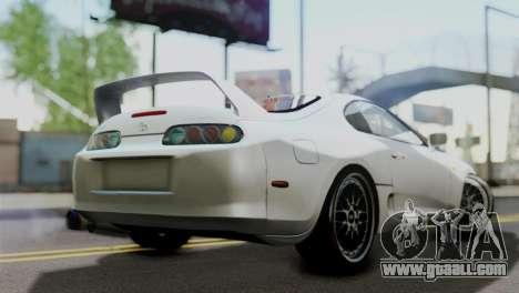 Toyota Supra 1998 FF7 for GTA San Andreas left view