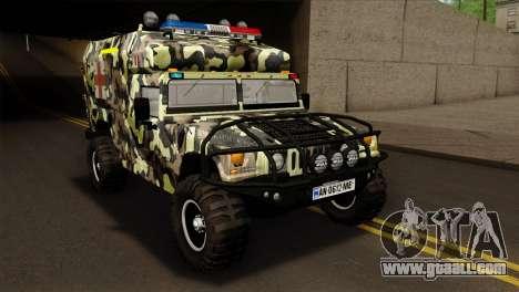 HMMWV M997 Ambulance for GTA San Andreas