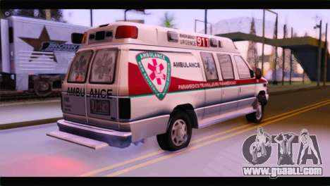 Ford E-350 Ambulance New Brunswick for GTA San Andreas left view