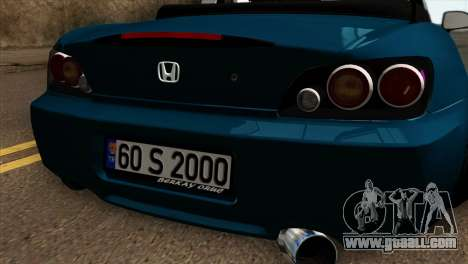 Honda S2000 for GTA San Andreas back view