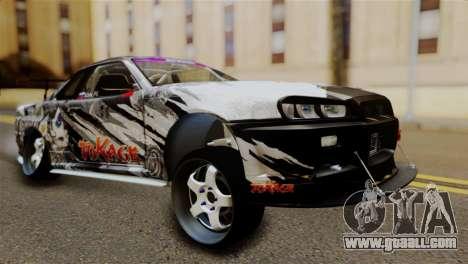 Nissan Skyline GTR34 Tokage for GTA San Andreas