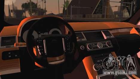 Range Rover Sport 2012 Samurai Design for GTA San Andreas back left view