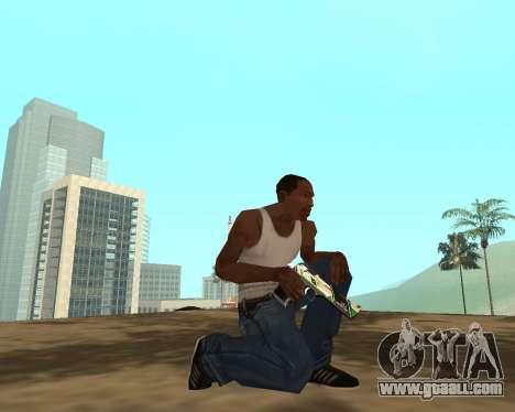 Green Pack Asiimov CS:GO for GTA San Andreas eighth screenshot