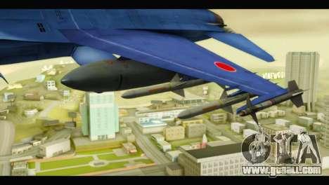 Mitsubishi F-2A JASDF Blue v2.0 for GTA San Andreas right view