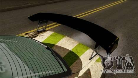 Nissan Silvia S15 Hunter for GTA San Andreas back view