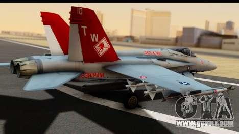 McDonnell Douglas FA-18C Hornet VMFA-232 USMC for GTA San Andreas left view