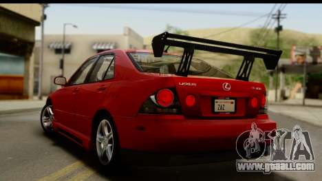 Lexus IS300 Tunable for GTA San Andreas engine