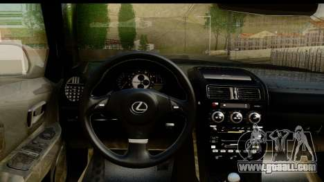 Lexus IS300 Tunable for GTA San Andreas inner view
