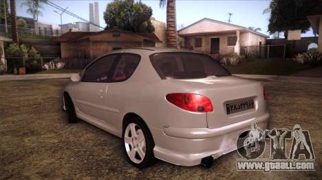 Peugeot 206 SD Coupe for GTA San Andreas left view