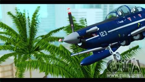 Beechcraft T-6 Texan II Royal Canadian Air Force for GTA San Andreas back view