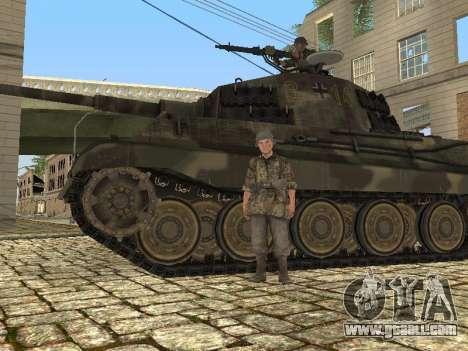 Panzerkampfwagen Tiger II for GTA San Andreas inner view