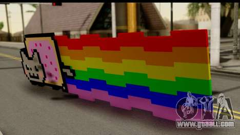 Nyan Cat for GTA San Andreas left view