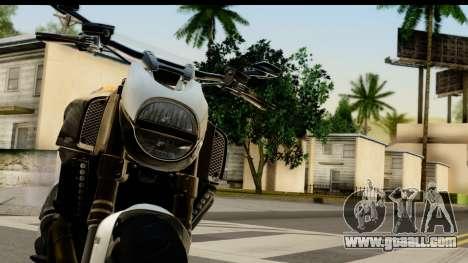 Ducati Diavel 2012 for GTA San Andreas back view