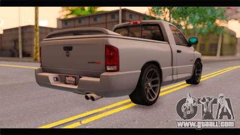 Dodge Ram SRT10 2006 Stock for GTA San Andreas left view