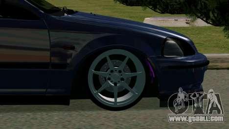 Honda Civic EK9 for GTA San Andreas back view