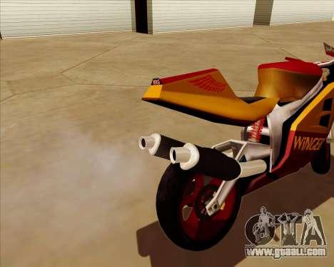 NRG-500 Winged Edition V.2 for GTA San Andreas bottom view