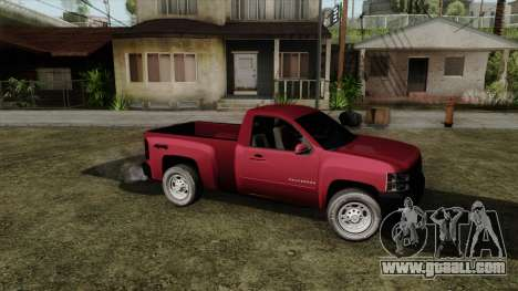 Chevrolet Silverado Cabina Sencilla for GTA San Andreas back left view