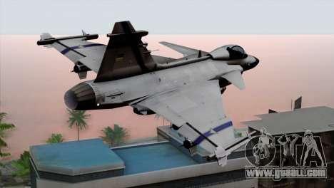 Saab 39 Gripen Custom Indigo Squadron for GTA San Andreas left view
