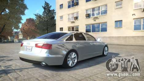 Audi A6 2012 v1.0 for GTA 4 back view