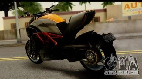 Ducati Diavel 2012 for GTA San Andreas left view