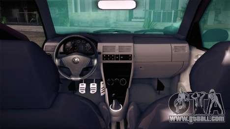 Volkswagen Gol GTI for GTA San Andreas back left view