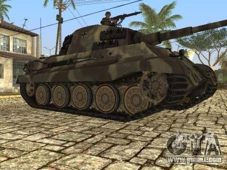 Panzerkampfwagen Tiger II for GTA San Andreas back left view