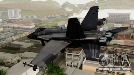 FA-18 HARV for GTA San Andreas left view