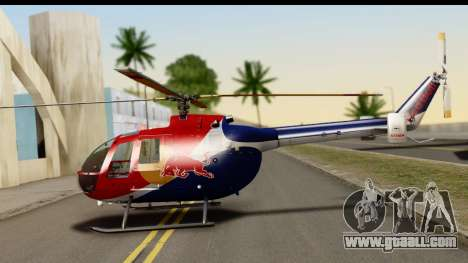 MBB Bo-105 Red Bull for GTA San Andreas left view