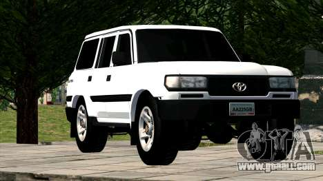 Toyota Land Cruiser 80 for GTA San Andreas back view