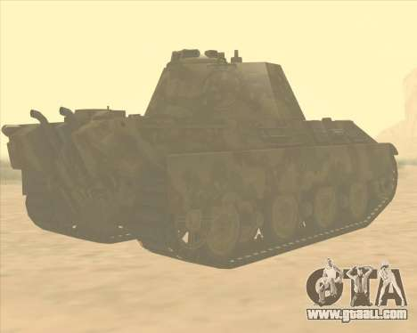 Pz.Kpfw. V Panther II Desert Camo for GTA San Andreas right view
