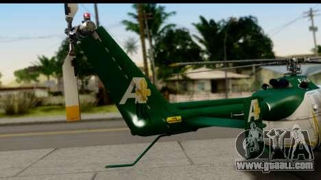MBB Bo-105 Air Med for GTA San Andreas back left view