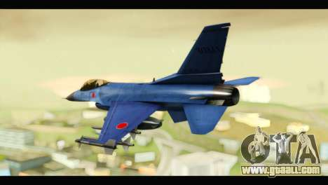 Mitsubishi F-2A JASDF Blue v2.0 for GTA San Andreas left view