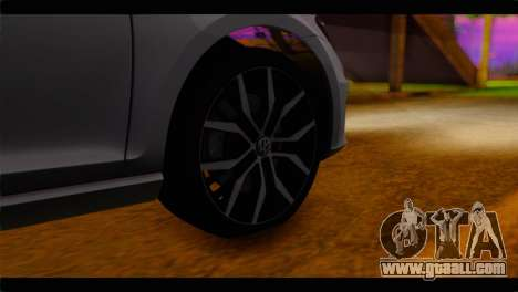 Volkswagen Golf 7 for GTA San Andreas back left view