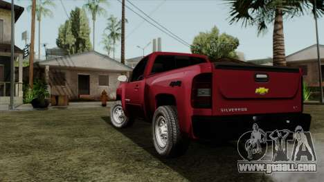 Chevrolet Silverado Cabina Sencilla for GTA San Andreas left view