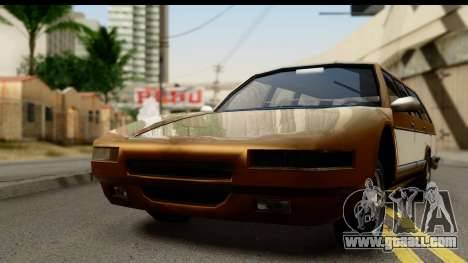 Regina with Infernus face for GTA San Andreas back left view