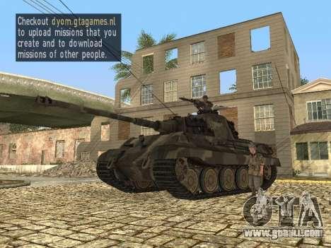 Panzerkampfwagen Tiger II for GTA San Andreas left view