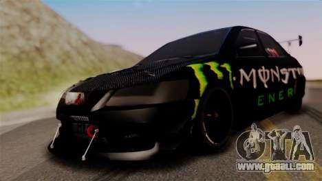 Mitsubishi Lancer Evo IX Monster Energy for GTA San Andreas