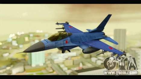 Mitsubishi F-2A JASDF Blue v2.0 for GTA San Andreas