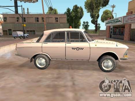 Moskvich 412 Cab for GTA San Andreas left view