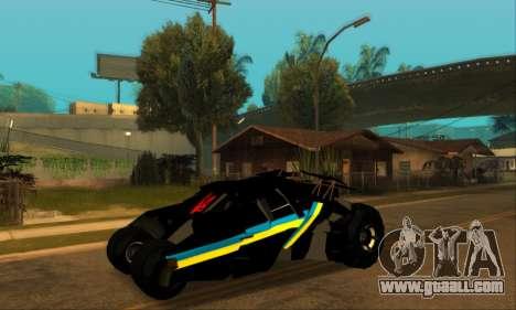 The Tumbler UA Style for GTA San Andreas