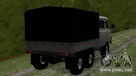UAZ 39094 6X6 Dream hunter for GTA San Andreas back left view