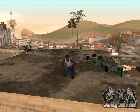 Green Pack Asiimov CS:GO for GTA San Andreas second screenshot