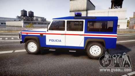 Land Rover Defender Policia PSP [ELS] for GTA 4 left view