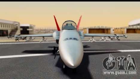 McDonnell Douglas FA-18C Hornet VMFA-232 USMC for GTA San Andreas back view