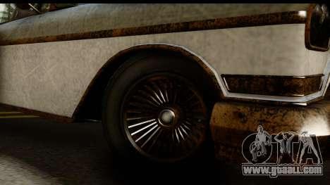 GTA 5 Declasse Tornado Worn for GTA San Andreas back view