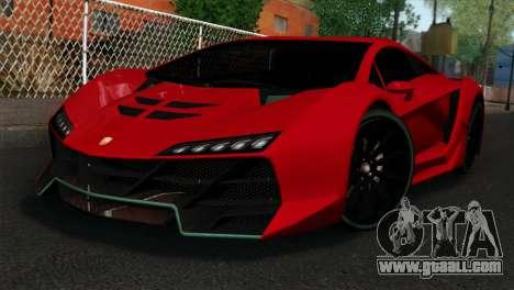 GTA 5 Pegassi Zentorno IVF for GTA San Andreas