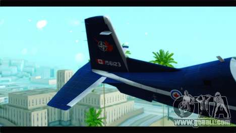 Beechcraft T-6 Texan II Royal Canadian Air Force for GTA San Andreas back left view