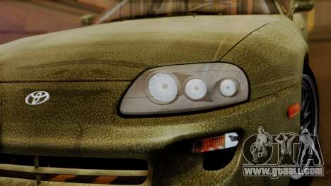 Toyota Supra Turbo (JZA80) 1998 FF7 Edition for GTA San Andreas back view