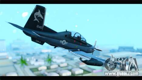 Beechcraft T-6 Texan II United States Navy 2 for GTA San Andreas left view
