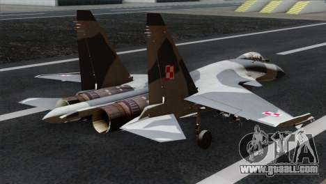 SU-37 Flanker-F Polish Air Force for GTA San Andreas left view